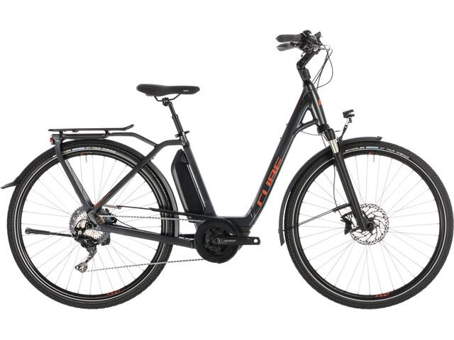 Cube Town Sport Hybrid EXC 500 E-citybike Easy Entry grå